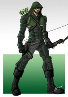 Oliver Queen - Green Arrow by ADL-art
