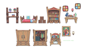 sidescroll furniture practice - Zelda's Room by JJoploo47