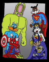 Marvel-DC Menagerie by Lordwormm