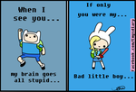 Valentines Card Finn and Fionna by EmilysDiary
