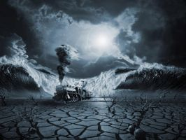 Surreal Train Art By Myjavier007-d675zl5 by Dark-And-Soulless