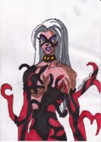 Carnage Black Cat by ChahlesXavier