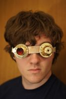 Steampunk Goggles by flamingcog