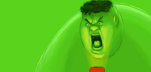 The Hulk Trying to Be Scary by gwinchy