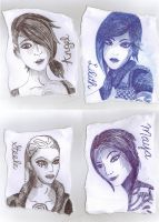 Four Sirens of Pandora by iWildBlood