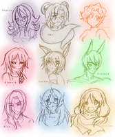PP: Bust sketches 1 by Betachan