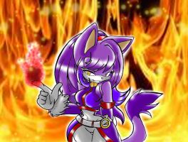 ~Blaze the cat~ by Reina-wOlf