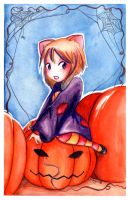 Happy Chibi Halloween by Liaze