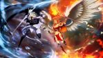 Ice Demon vs Fire Angel by GENZOMAN