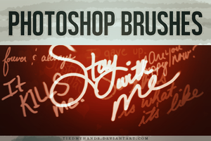 Handwritten Notes - Brushes by tiedmyhands