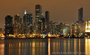 Chicago Skyline 2 by golfiscool