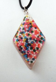 Diamond Shaped Sprinkle Charm Necklace by crystalcorgiboutique