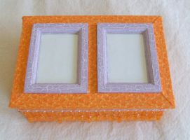 Box--orange and lavender by Vivienne-Mercier