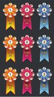 BFS Autumn Tournament champion rosettes by Anastasven