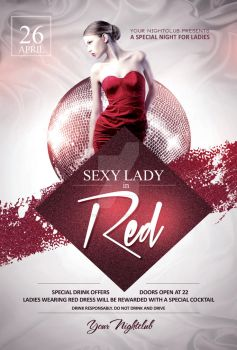 Sexy Lady in Red - Flyer Template by YczCreative