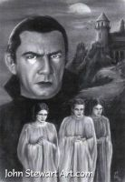 Dracula Bela Lugosi Charcoal Portrait by johnstewartart