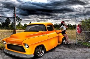 Chevy pick-up truck 1955 by CrazyMihnea