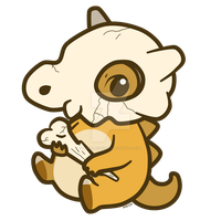 Cubone_charm by pinkplaidrobot