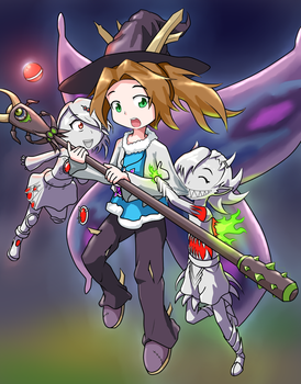 Terraria fan-art: Alicia and the Twins by Jon-Smitten