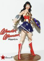 Hippolyta as Wonder Woman costum action figure by Chalana87