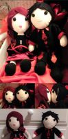 +plush+ King n Queen of Hearts by Darling-Poe