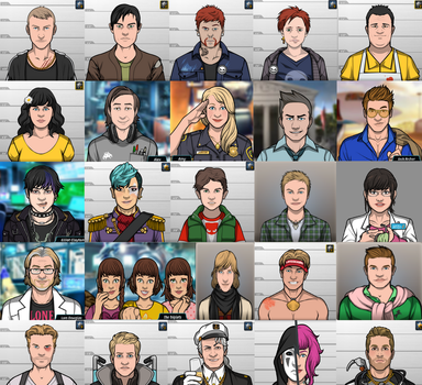 My Favorite Criminal Case Characters (UPDATED) by IAmZambieBambie