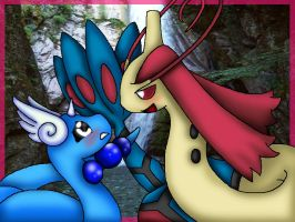Dragonair And Milotic by StellasStar