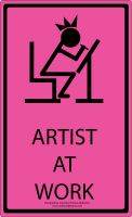 Artist At Work: Pink Edition by unbounddreams