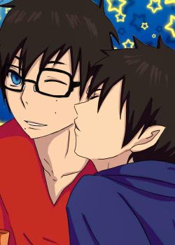 ao no exorcist_Kissing by so-berry