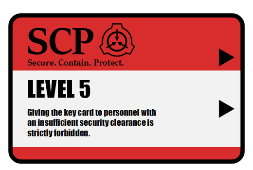 2014-09-12-SCP Command Keycard by Valorcrow