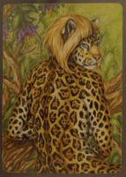 In the treetops, you're closer to the sun ---ACEO by teiirka