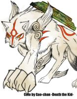 Amaterasu coloration by Death-the-Kid-Gao