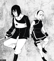 Sasuke and Sakura by Gintara