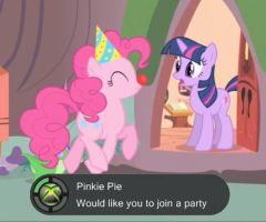 Pinkie Pie on Xbox Live? by MrFugums