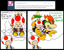 Ask Toad - Throne? by pocket-arsenal