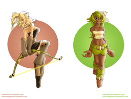 wakfu gurls by nashimi