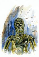 C3PO at Coruscant by antonvandort