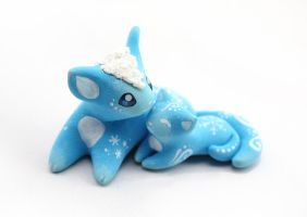 Christmas snow mother cat with kitten by Ailinn-Lein