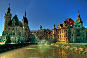 Castle in Moszna HDR by ozyrus