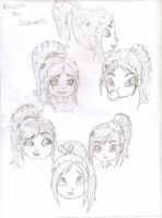 Vanellope faces by ParamoreLoverXx