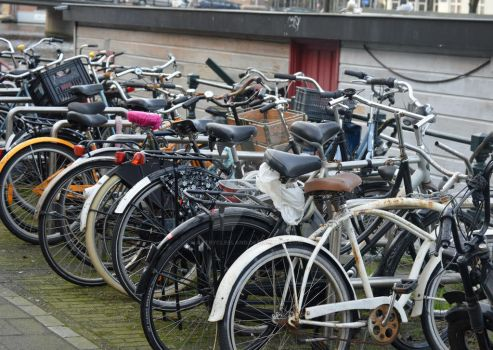 In Amsterdam they Bike 2 by ArtByCleeland