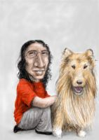 Me with a dog by Panistheman