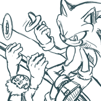 Wreck-It Ralph_Sonic doodle by chellchell