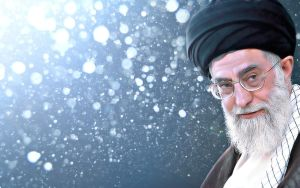 Khamenei Widescreen Background by miladps3