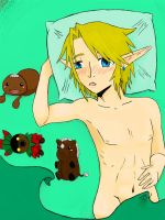 Link gets shy in Bed FINISHED by girloveslink