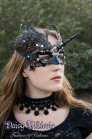 Black Unicorn Butterfly Mask by DaisyViktoria