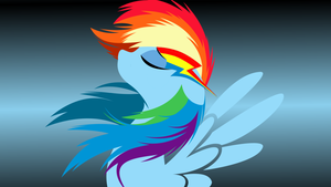 A Rainbow Dash Wallpaper by Desuria
