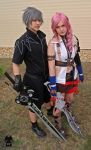Noctis and Lightning - cosplay by Hikuja