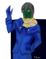 The guy in the mask by Melhmon