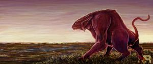 a beast roams the plains by nraminhos